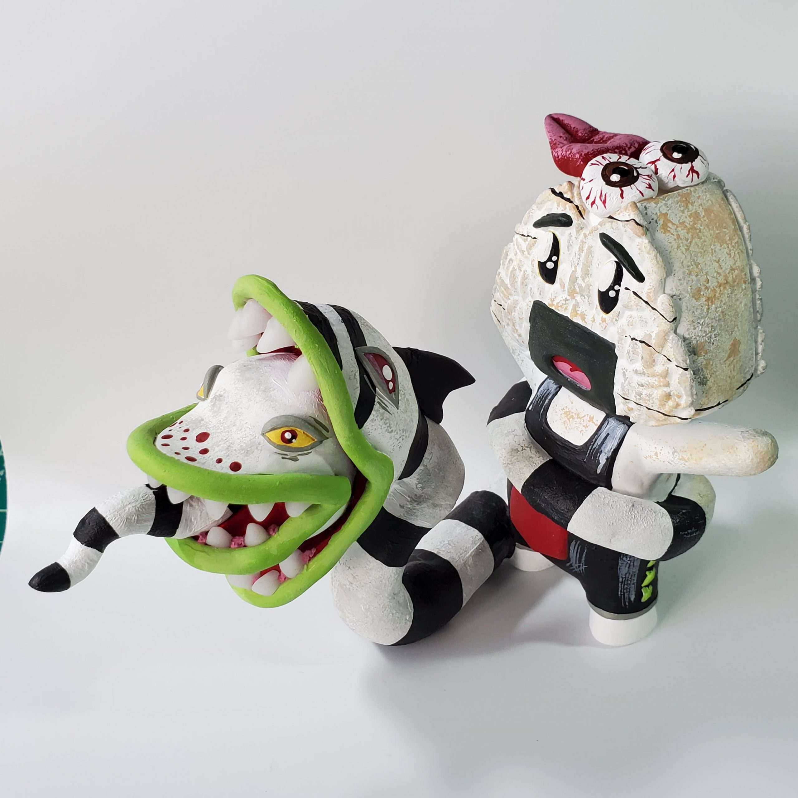 Haunted Onigiri Boi riding sandworm from Beetlejuice