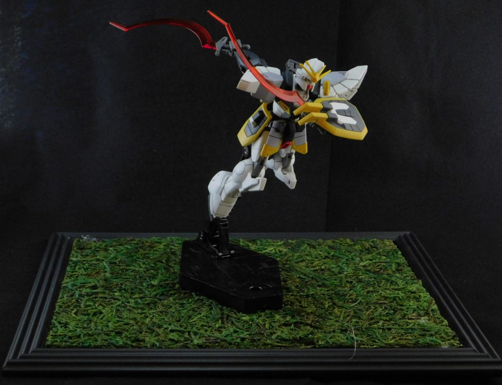 Joey dukes photography gundam sandrock with black background