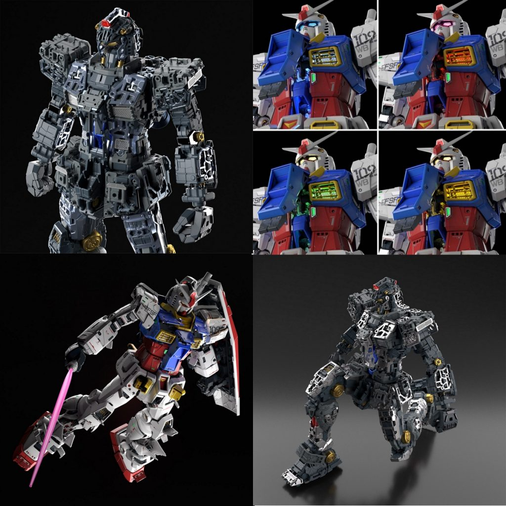 perfect grade unleashed rx-78-2 gundam with features