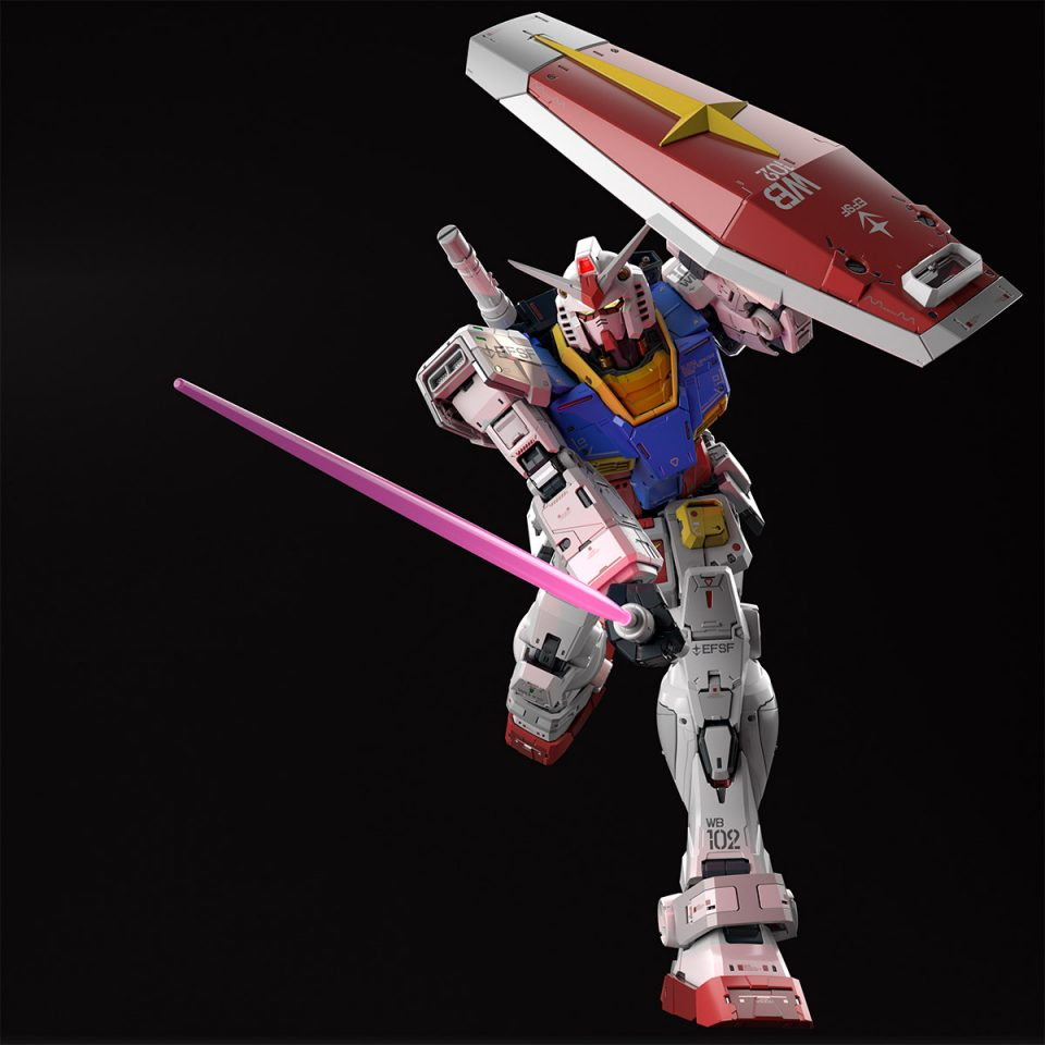Perfect grade unleashed RX-78-2 Gundam Shield and Beam Saber