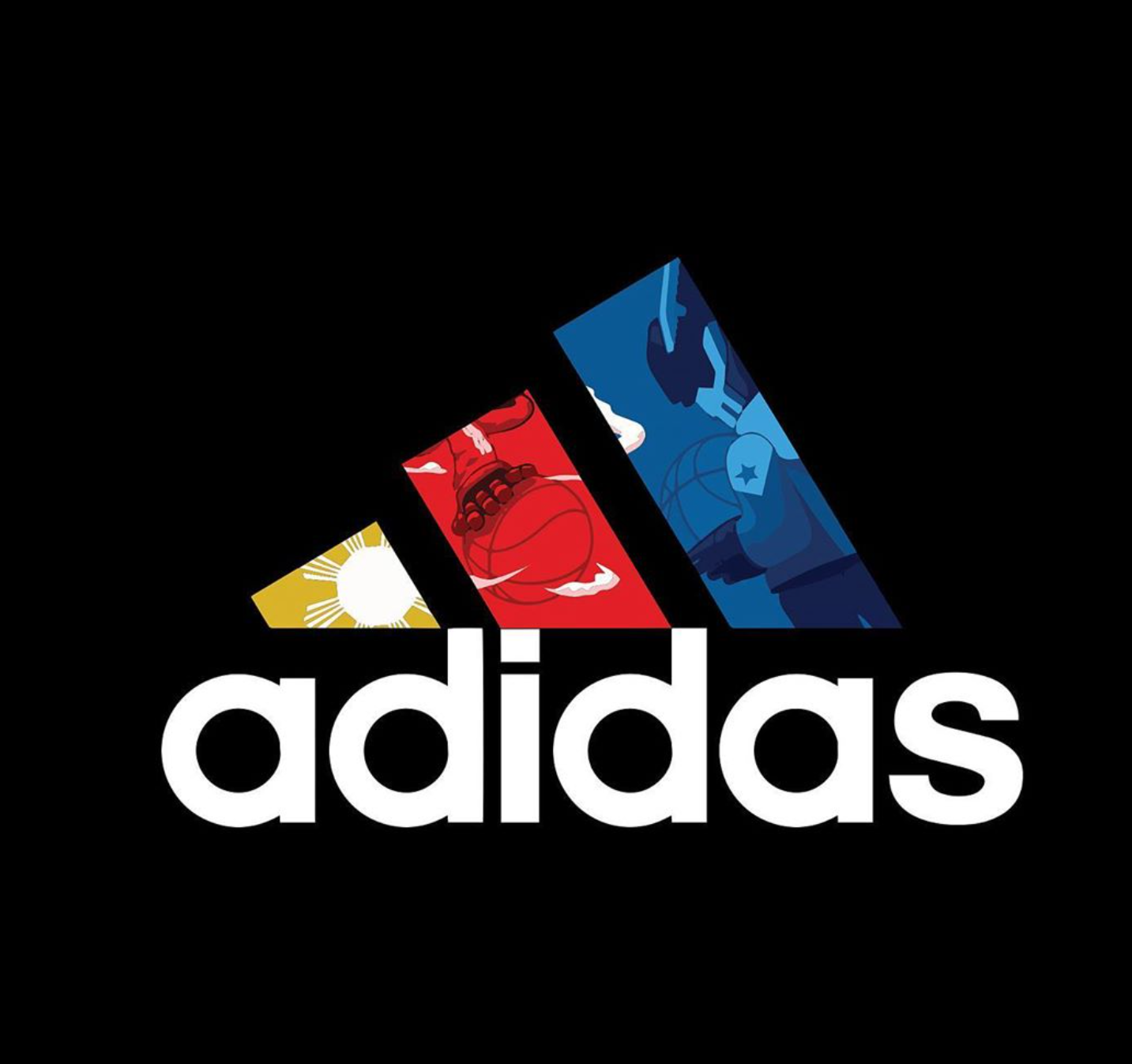 quiccs and adidas logo collaboration design