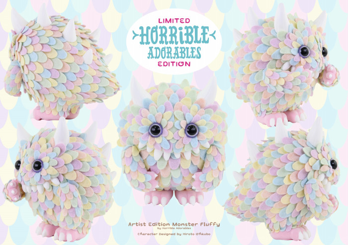 limited edition horrible adorables monster fluffy colab with instinctoy