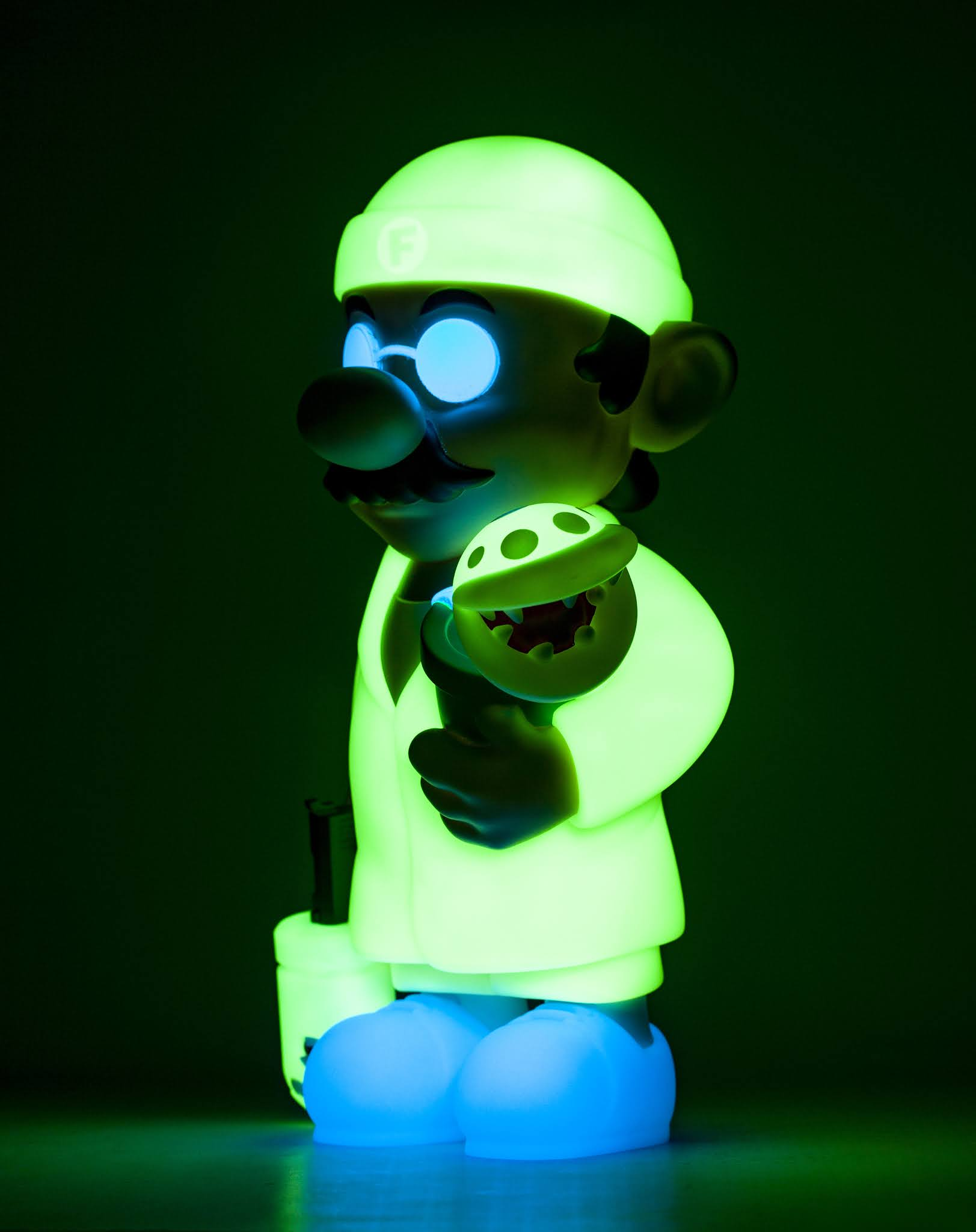 A side view of GID star power up super professional glowing