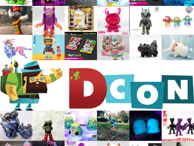 dcon 2020 collage with logo and exclusive toys