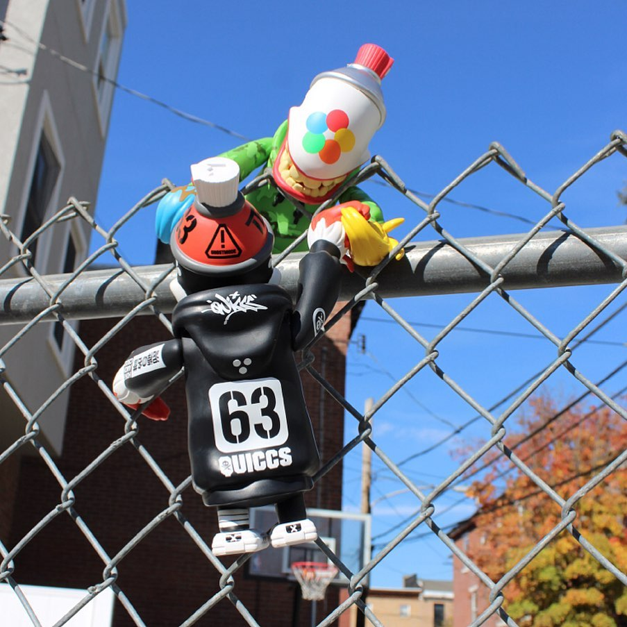 fortress mad spraycan mutant climbing fence