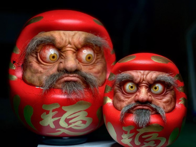Daruma and Normal version of Daruma