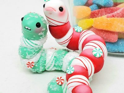 SeriouslySillyK Minty Fresh Edition Holiday Gummy Worms Pair Promo Photo