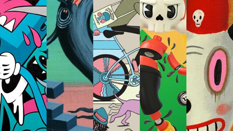 10 Artists 5 Toys Collage - Invasion Toys.