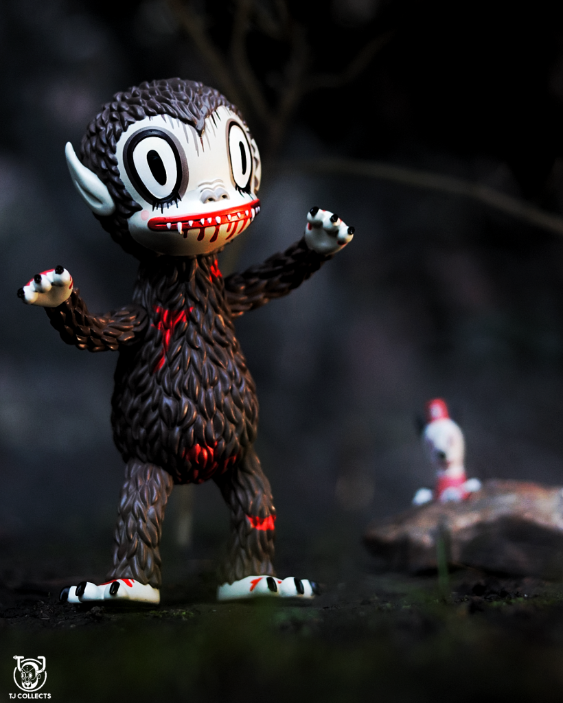 Bloody Ahwroo toy photography by TJ Collects