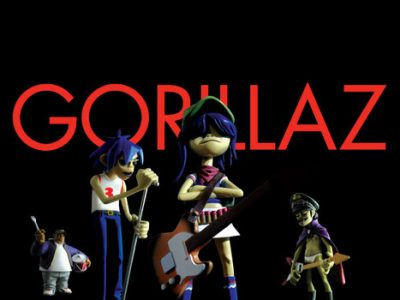 Gorillaz promotional photo for phase one kidrobot figures