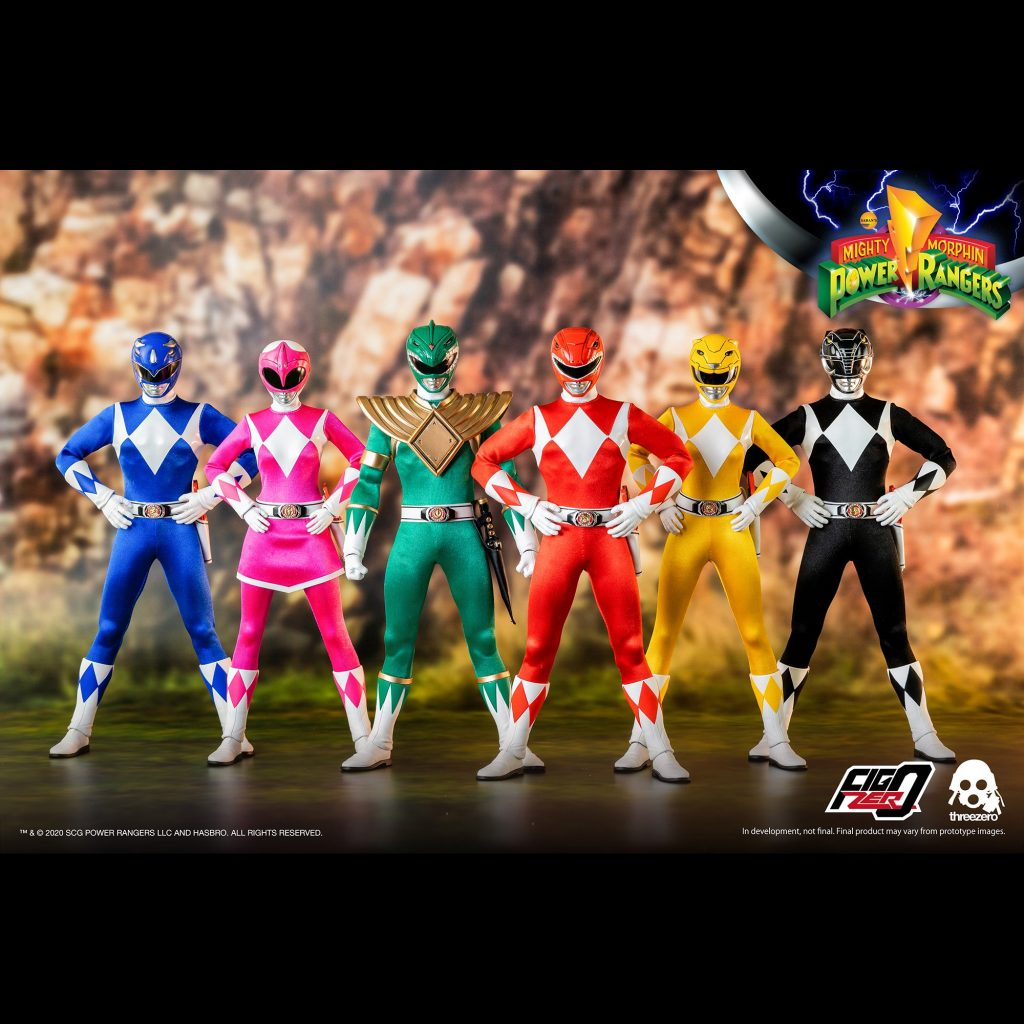 Power Rangers standing pose together