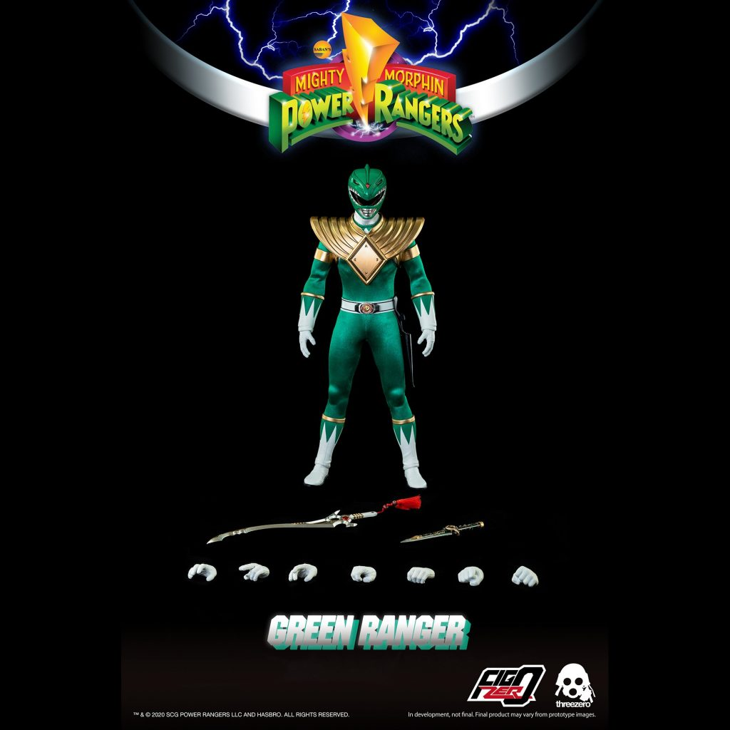 Green Ranger with accessories spread