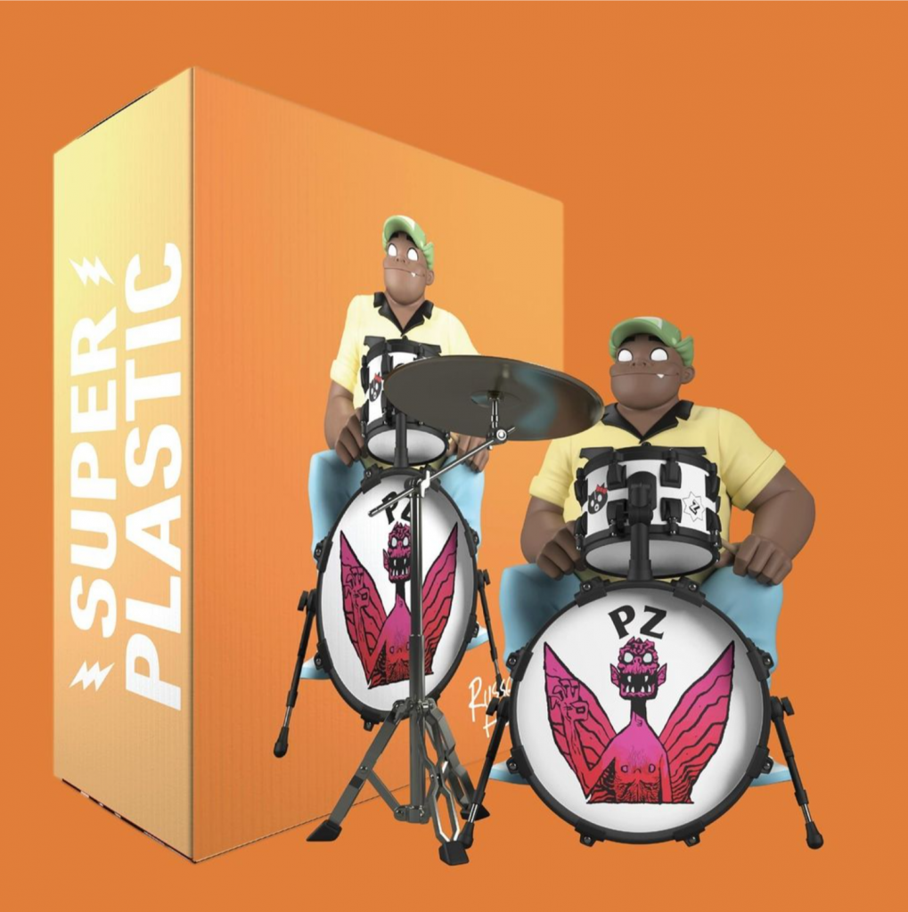 Gorillaz phase 5 russel official figure from superplastic