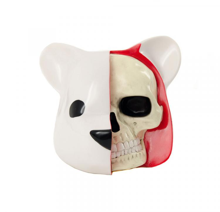 Luke Chueh Dissected Bear Head Macabre Toy
