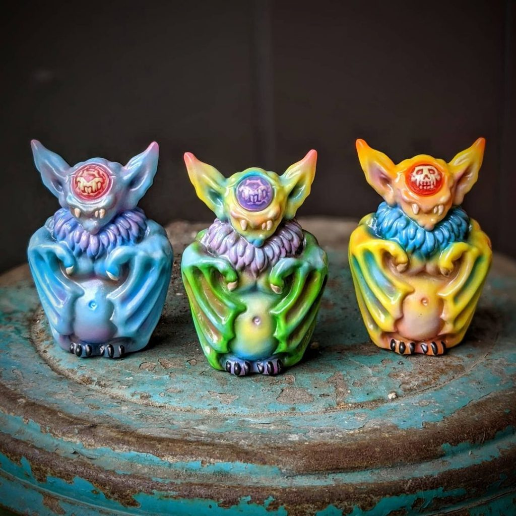 Motley Miscreations' Wonder Goblin Bats Commission Macabre Toys