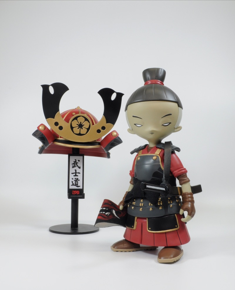kid katana 0004 renegade leader with black bamboo stand