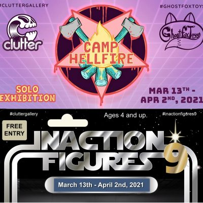 Camp Hellfire and Inaction Figures 9 event banners