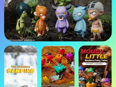 Invasion Toys Blind Box Collage