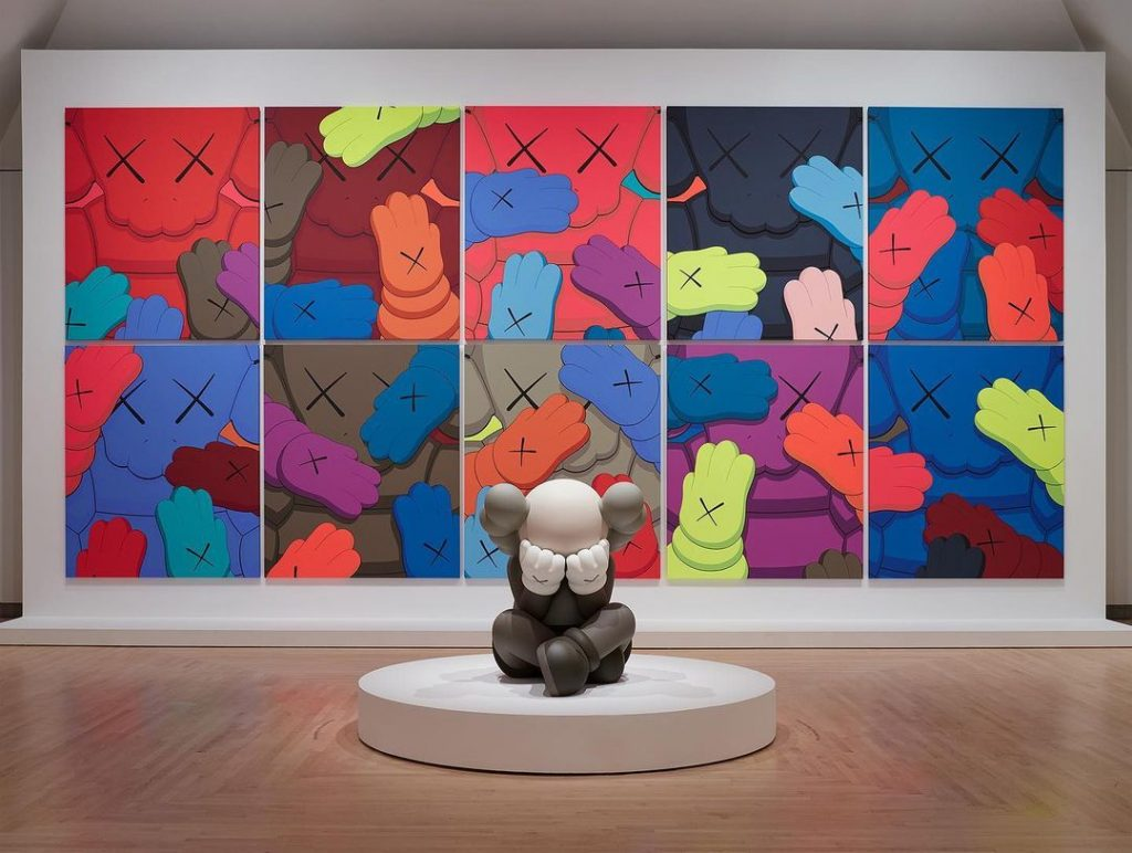 brooklyn museum's kaws what party exhibit