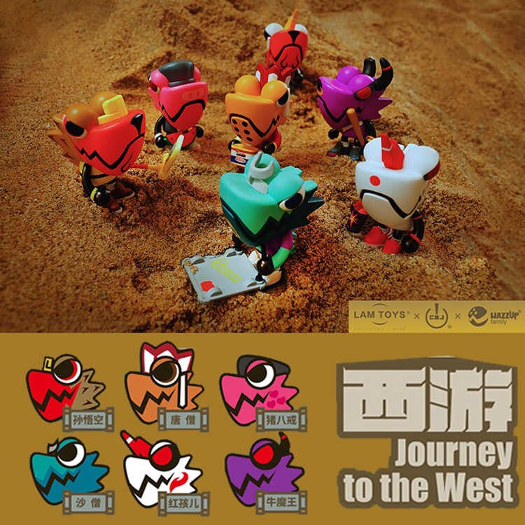 cjoy wazzup chameleon journey to the west blind box