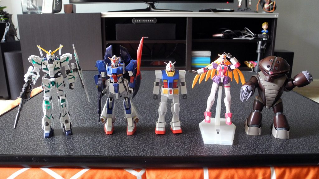 high grade gundam models