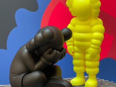 kaws black separated and yellow what party