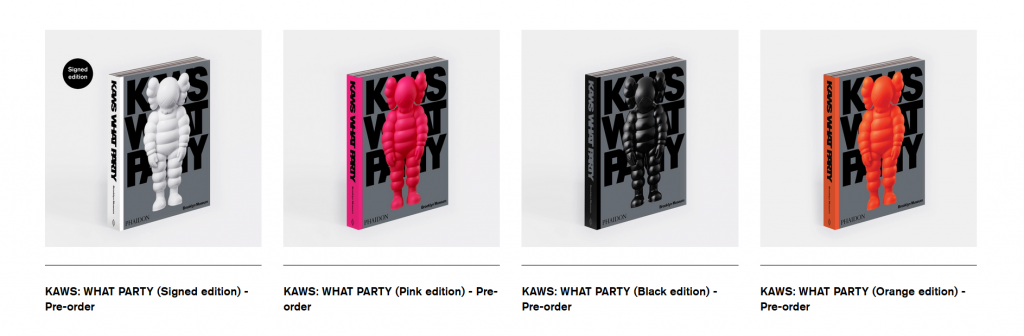 kaws what party art books