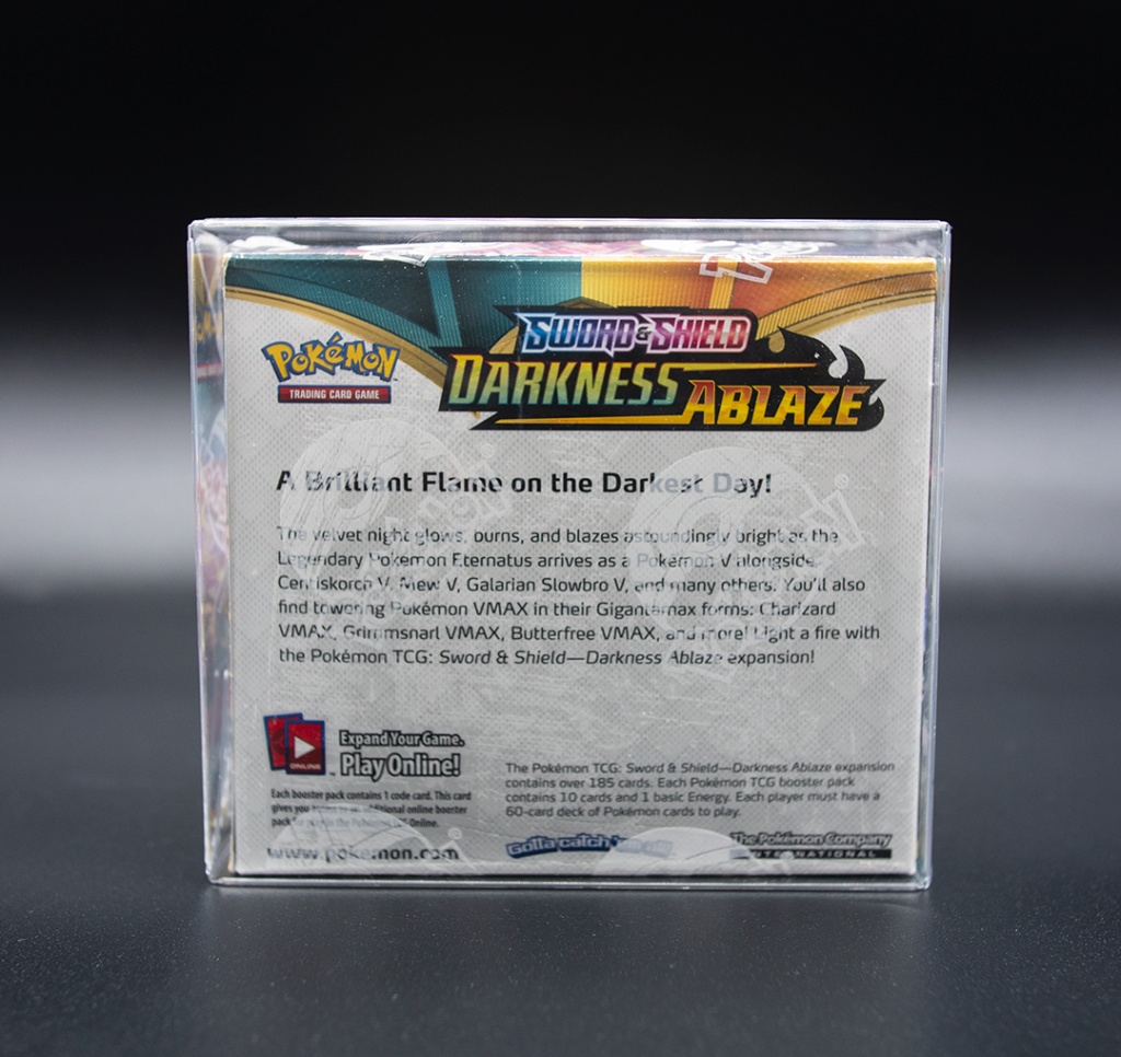pokemon booster box protector rear view