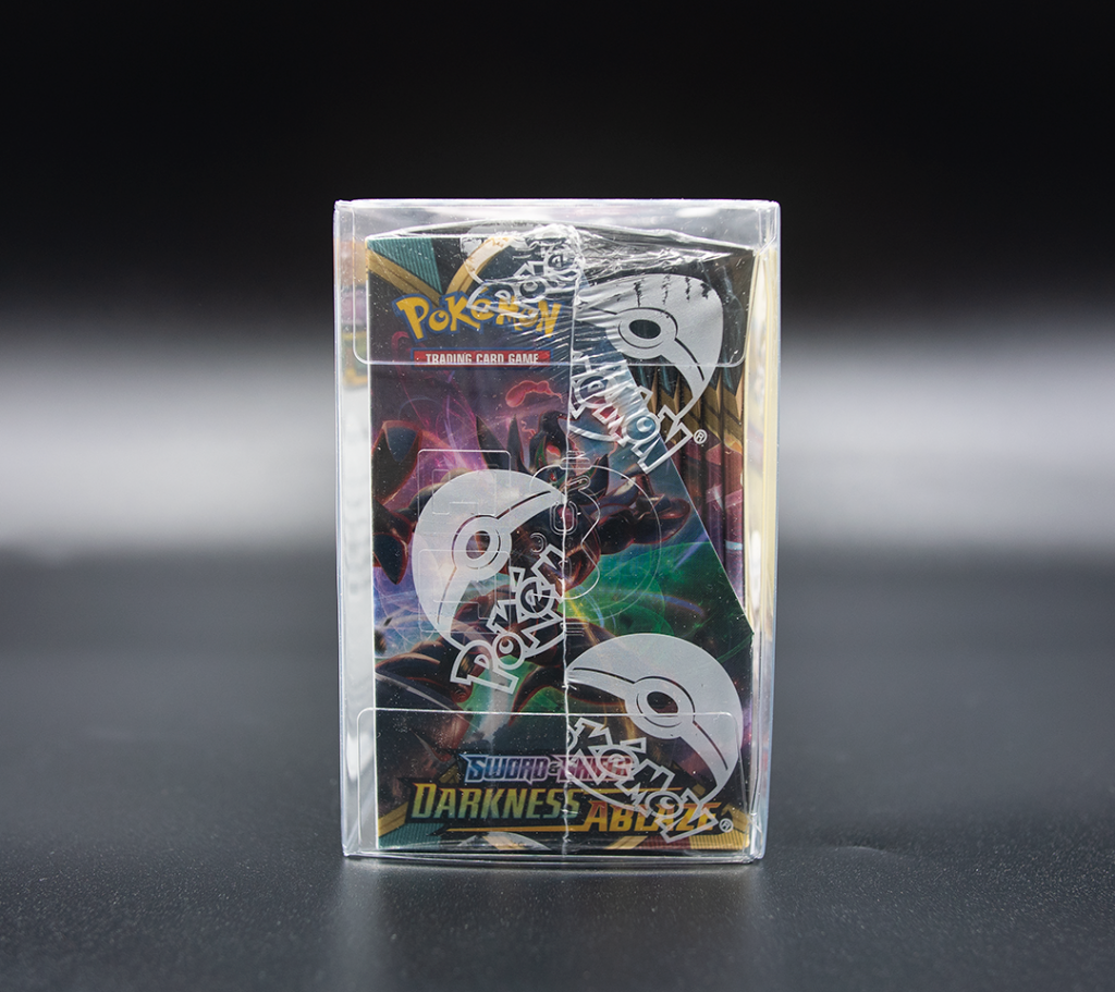 pokemon booster box protector side view