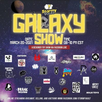 stormy vault galaxy show event poster