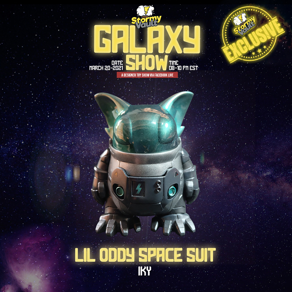 stormy vault galaxy show lil oddy space suit by iky