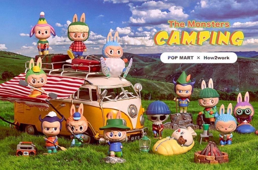 the monsters camping labubu blind box series