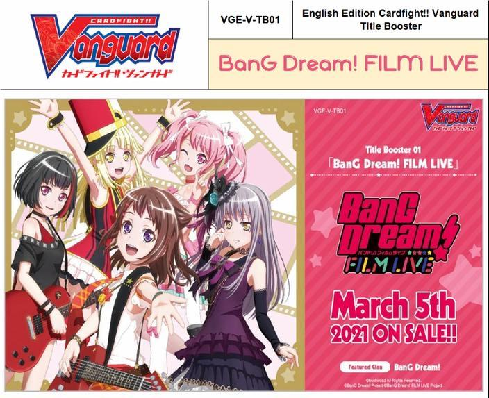 Bushiroad - Vanguard Bang-Dream Film Live Vol 1 Title Booster Box Product Image
