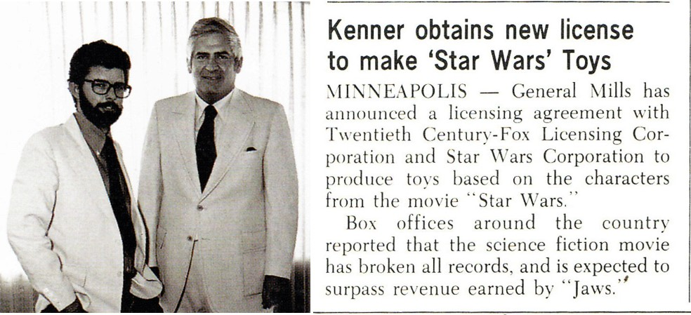 George Lucas and Bernie Loomis of Kenner in 1977 cut-out