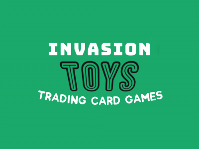 Invasion Toys Trading Card Games Logo Banner