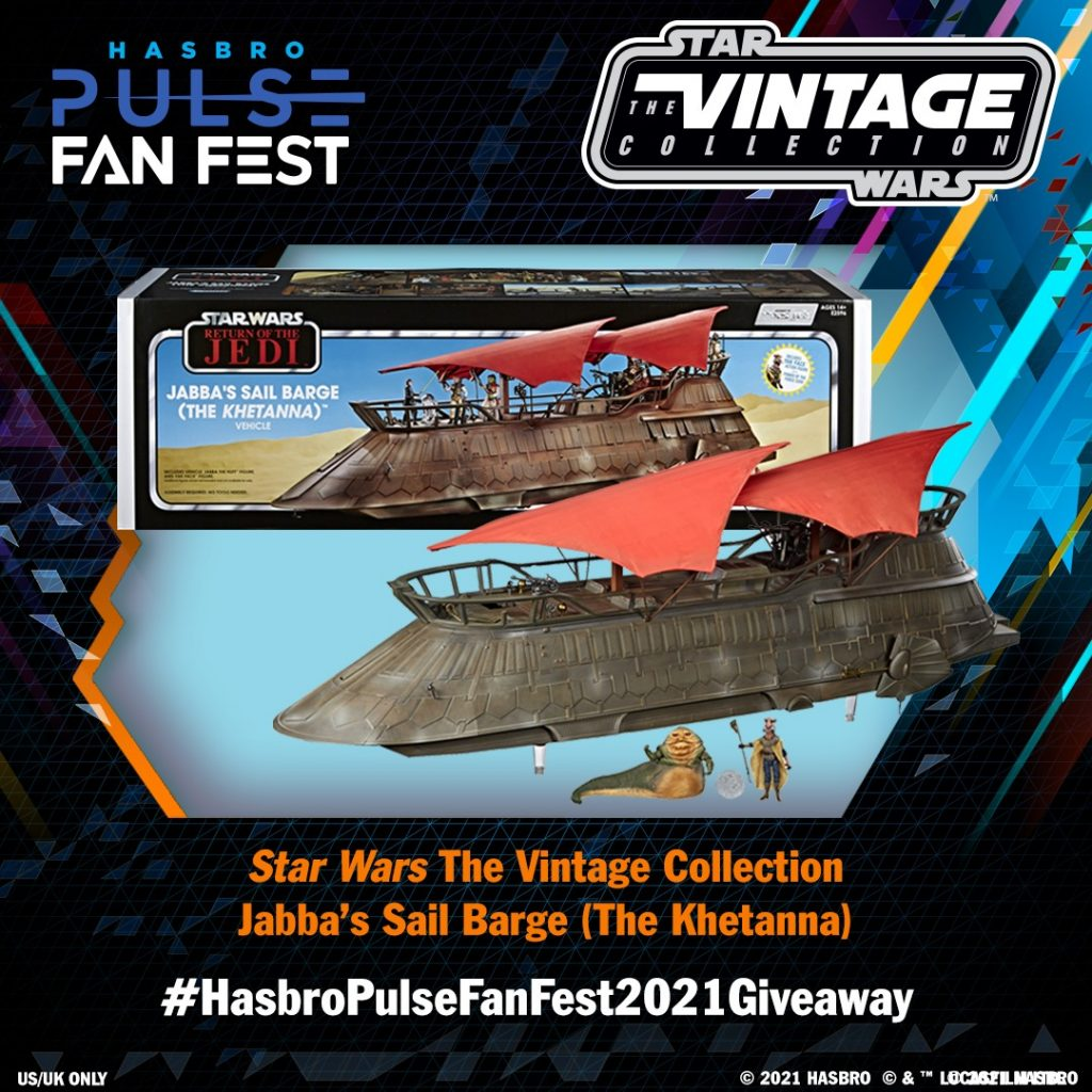 Jabbas Barge Giveaway Poster