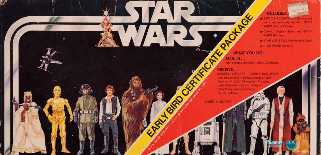 Vintage Star Wars kenner Early Bird certificate detail