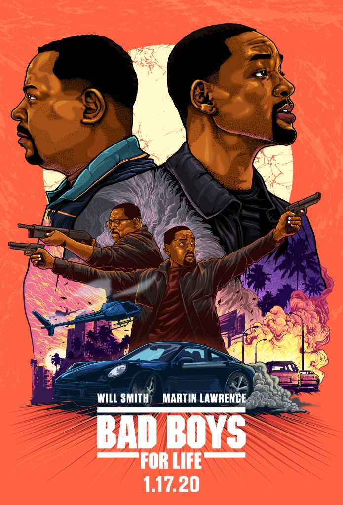 bad boys for life movie poster by kensuke creations