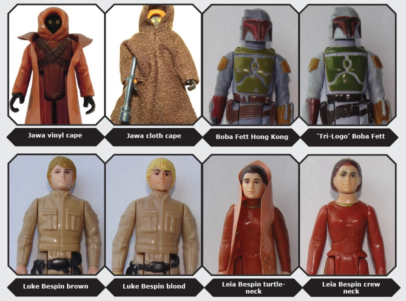 kenner star wars boba fett and luke variants
