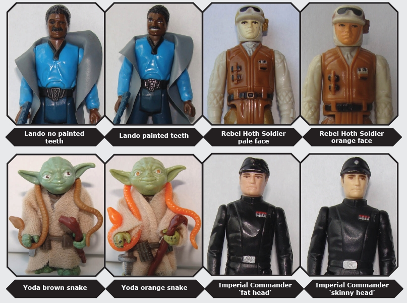 kenner star wars variant comparisons