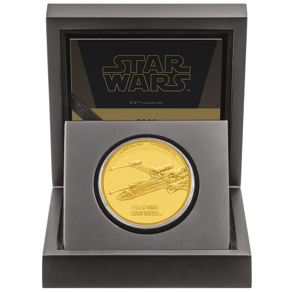 star wars x-wing 1 oz gold coin