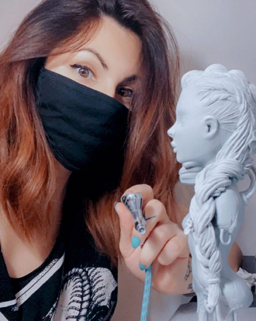 Kristy Kitsune Sculpting and Painting Figure