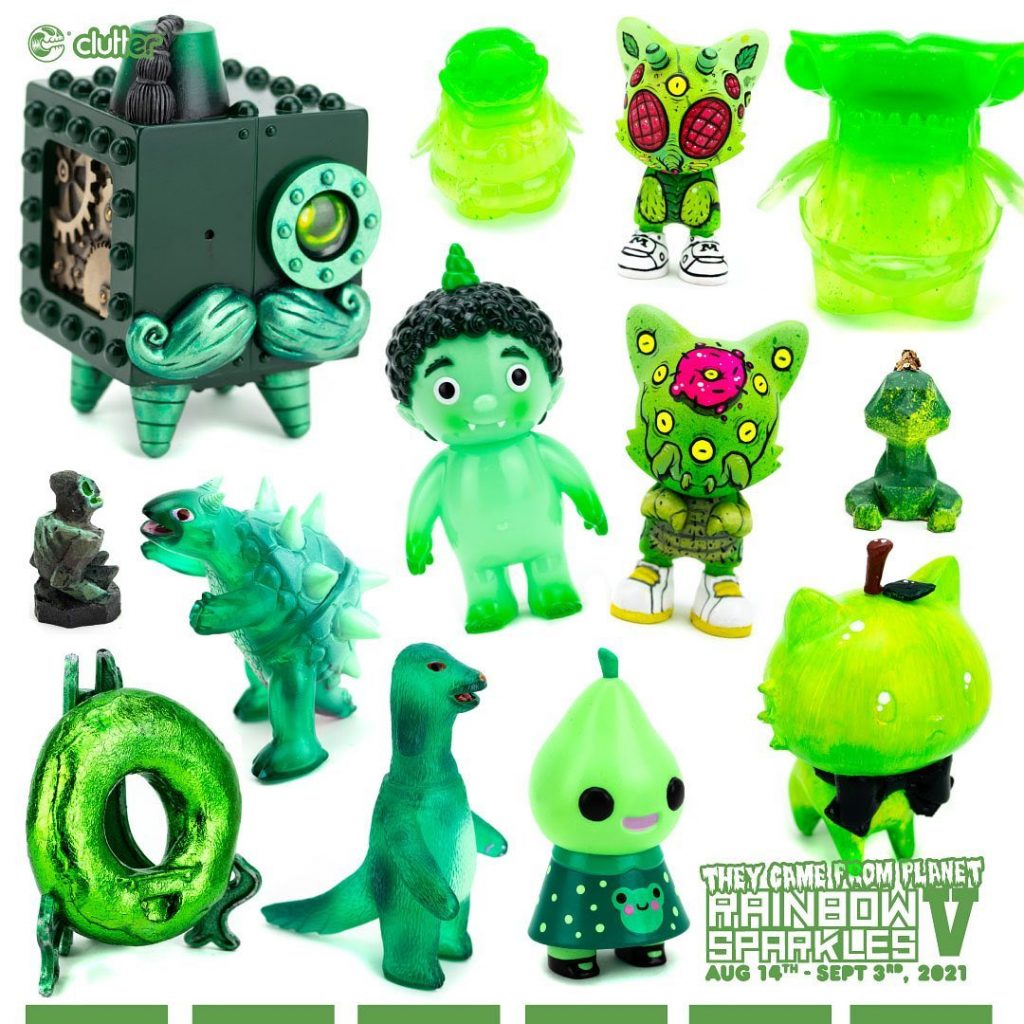 clutter gallery rainbow sparkles v green toys