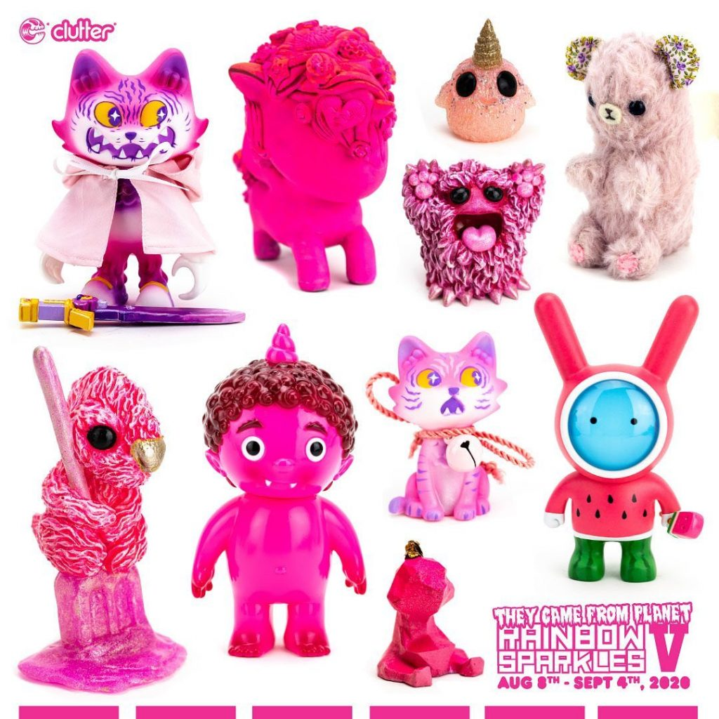 clutter gallery rainbow sparkles v pink toys