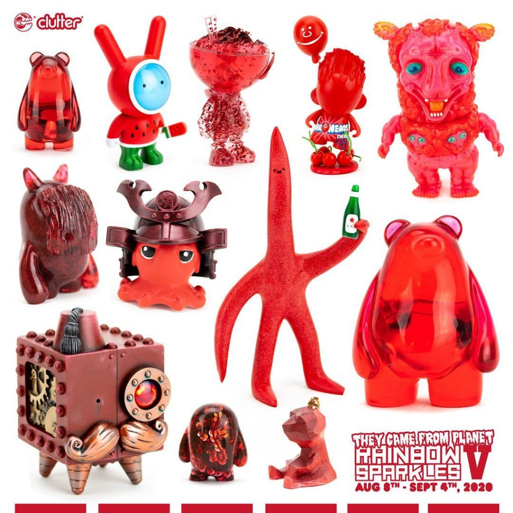 clutter gallery rainbow sparkles v red toys